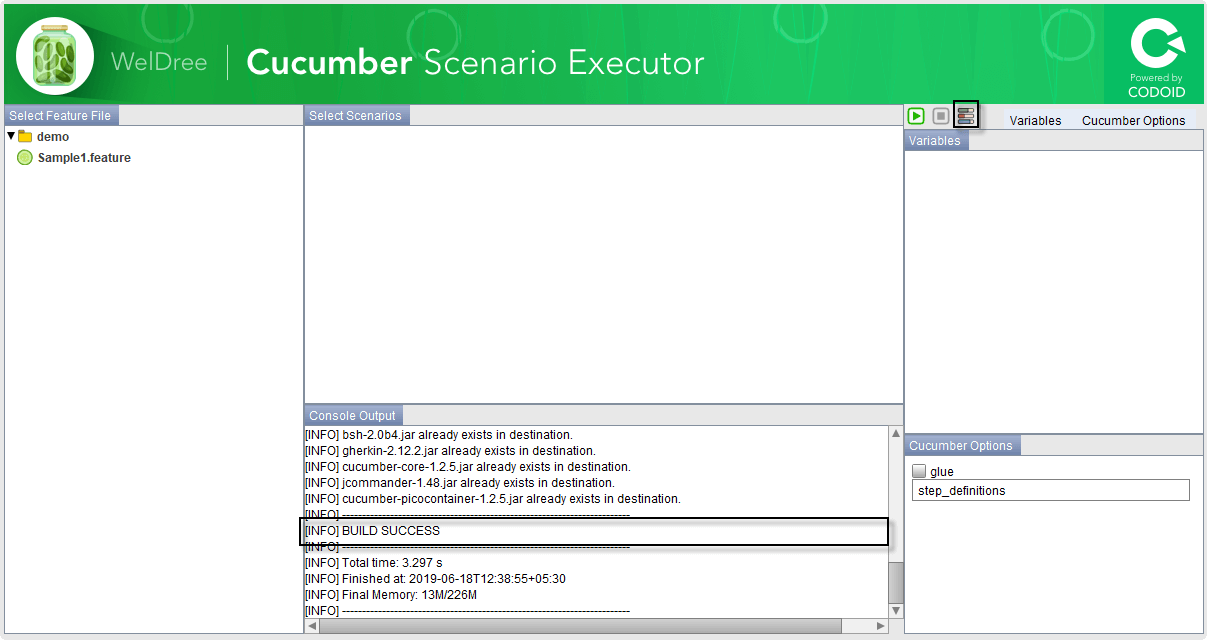 Compiling the Cucumber project