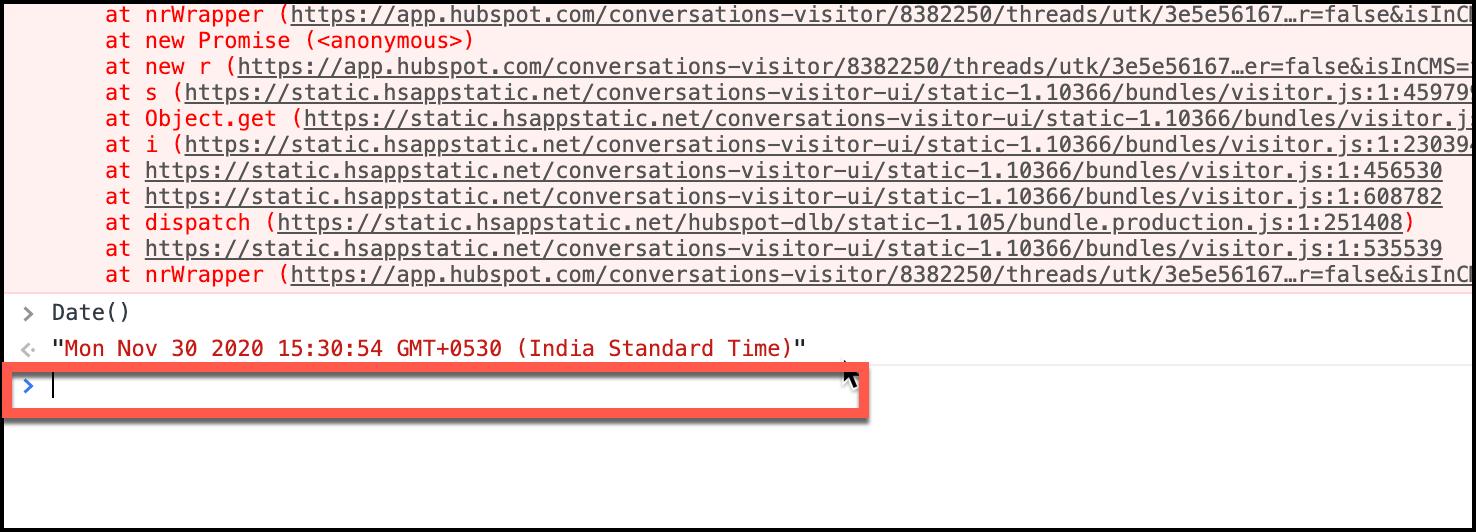 Chrome DevTools Command Prompt