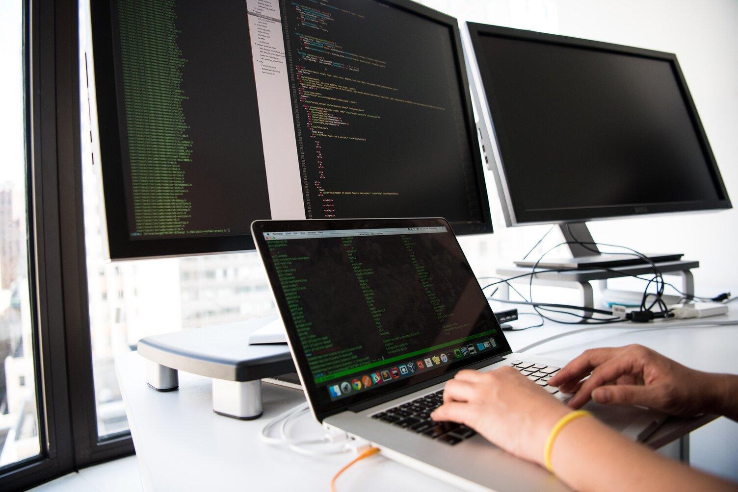 Developer running tests