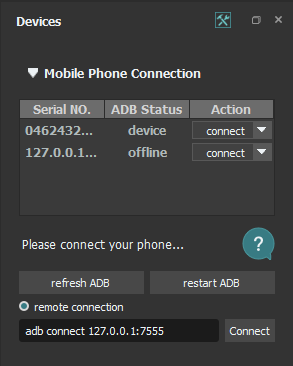 AirTest Connection Method
