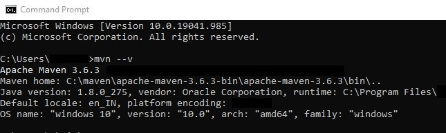 Maven Installing Checking