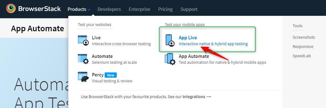 Browserstack Tutorial for App Live